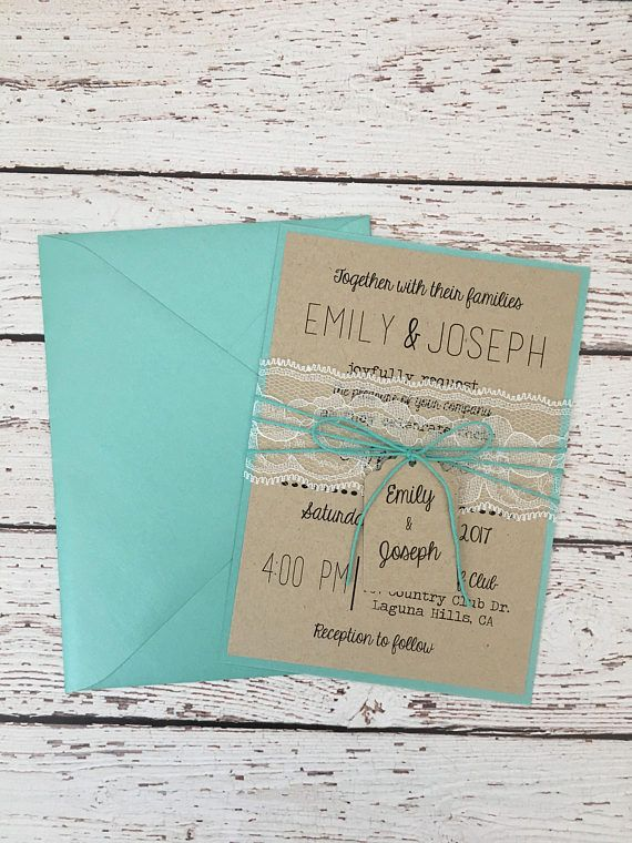52 best wedding invitations images on pinterest return address blue wedding invitation rustic wedding invitation rustic stopboris Images