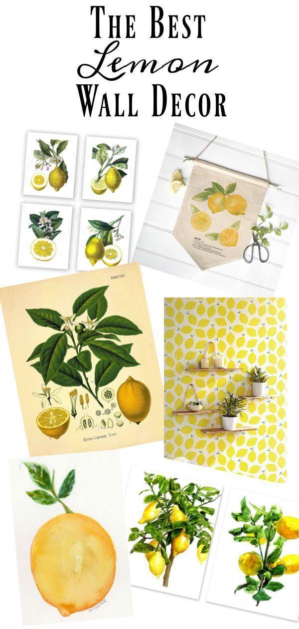 The Best Of All Things Lemon Decor Lemon Kitchen Decor Home