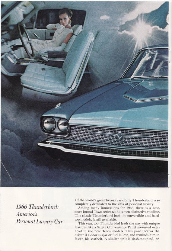 1966 Thunderbird Full Two Page Ad, Original