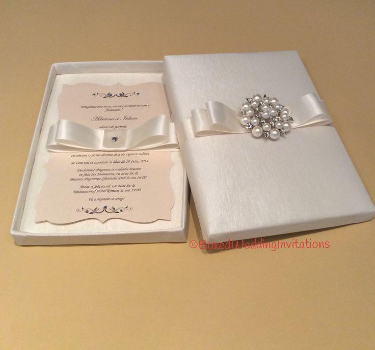 Unique Wedding Invitations In A Box: Elegant Wedding Invitation Box #wedding #invitation #box