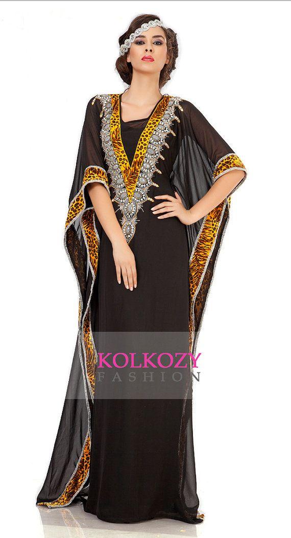 Arabian Caftan / Kaftan Black Embroidered Dubai by KolkozyShop
