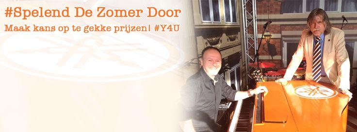 Yamaha for Oranje   Eric Swinkels en Johan Derksen   Special Edition Yamaha Clavinova   #Y4Oranje