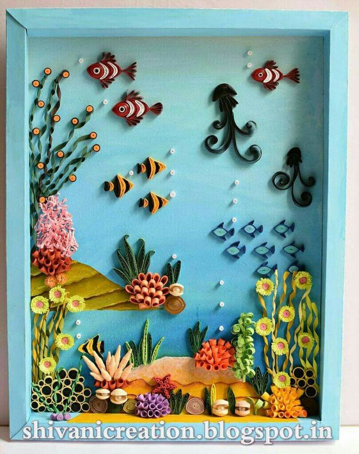 Aquarium Felt Puppets Quilling Paper Art