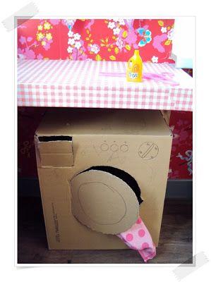 Wasmachine maken van een grote doos