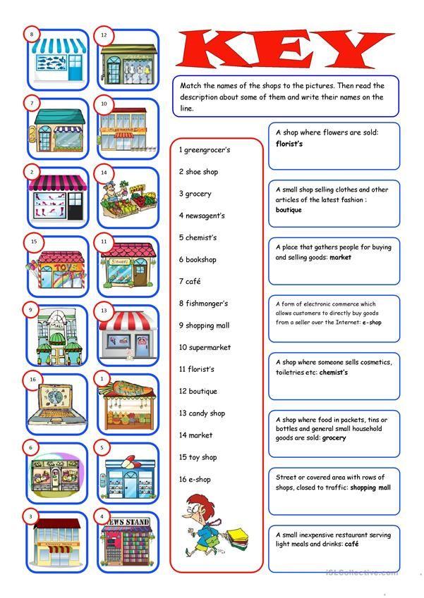 Shopping Reading Matching Teacher Websites Vocabulary Exercises Vocabulary Teacher websites for worksheets