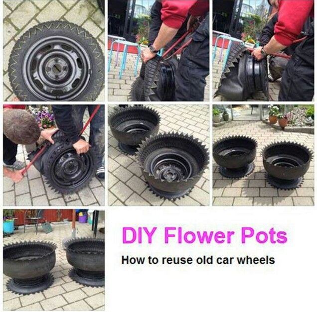 Best 10 old tire planters ideas on pinterest tire for How to recycle old tires