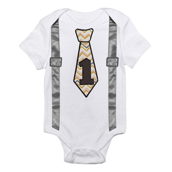 d6dbfb5b611dc Newborn Baby Boy Clothes White Baby Rompers Jumpsuit Suspenders Bow ...