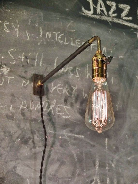 Vintage Industrial Wall Mount Light - Machine Age Trouble Lamp Sconce
