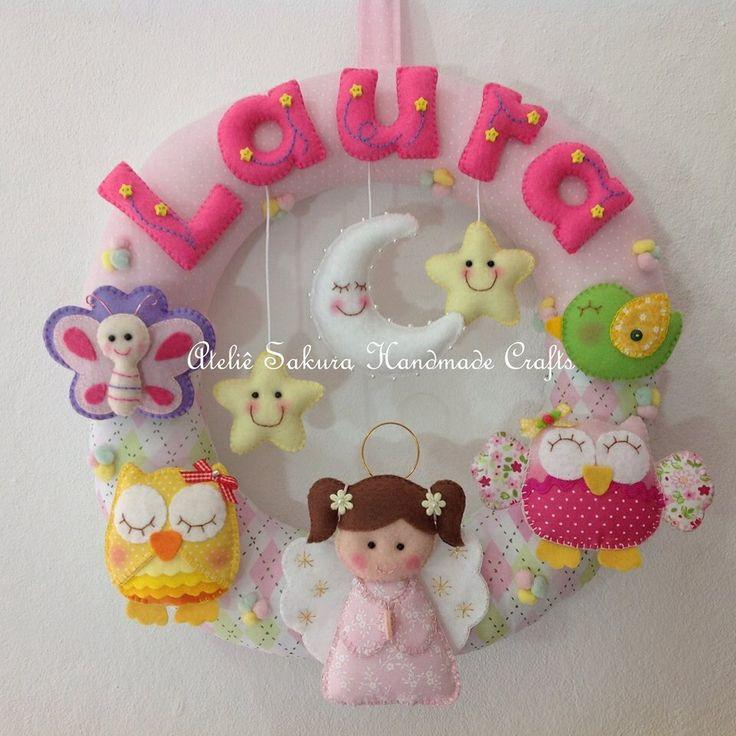 Guirlanda Porta de Maternidade anjinha Laura