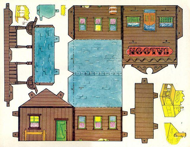 un village de western : à partir de cette page, plusieurs éléments pour créer une petite ville du Far-West...