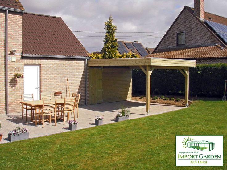 #Carport en bois moderne : fonctionnel et élégant.