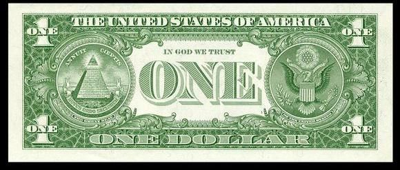 """The American Dollar. I had to choose this one because there is so much hidden in our bills. On the front we have a historical person. On the back we have our seal, and the pyramid with the all seeing eye (very creepy). We also have the saying """"IN GOD WE TRUST"""". I think our currency is pretty cool!"""