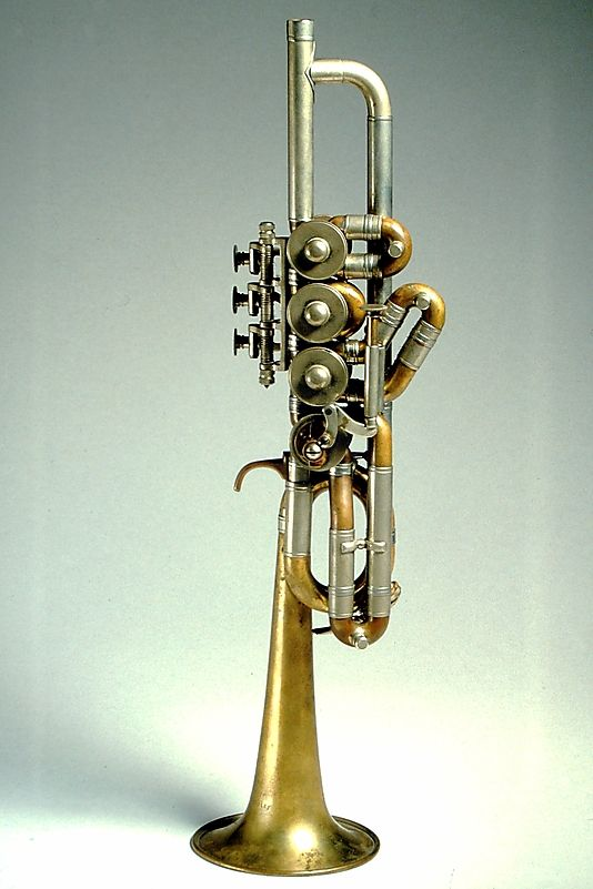Piccolo Trumpet in High B-flat made by Kurt Scherzer (1977, Germany). Metal. The Metropolitan Museum of Art, New York, USA