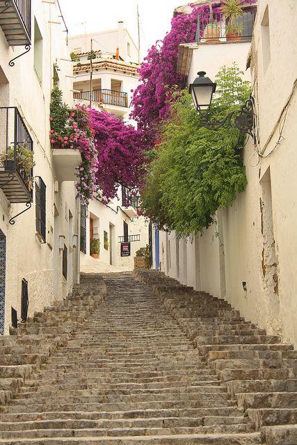 Picturesque alleys of Altea, Comunidad Valenciana / Spain (by mitko_denev).