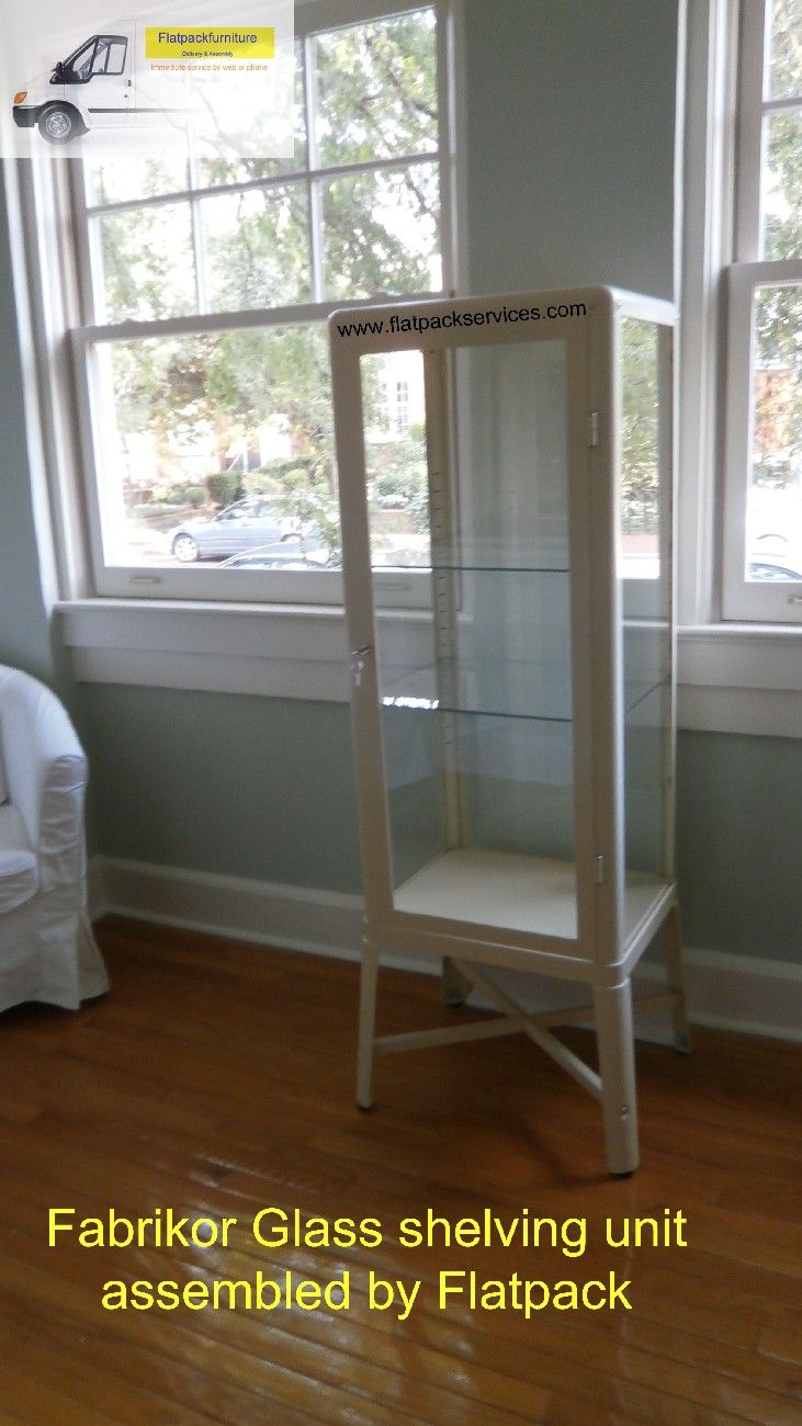 IKEA FABRIKÖR Glass Door Cabinet Article Number: 202.422.77 Assembled In NE  DC