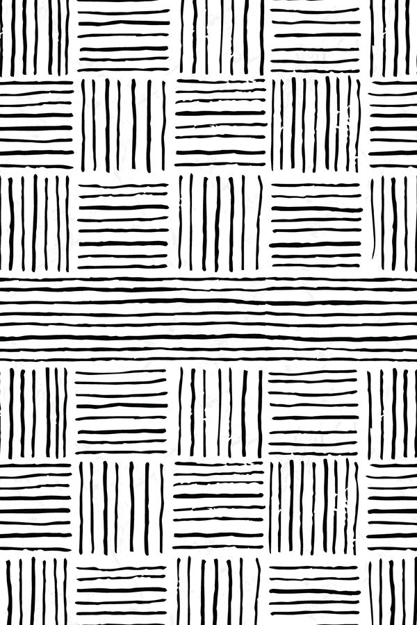 Retro Grace Stripes - Medium by ashleybehnkedesign A simple, hand drawn print with stripes in black and white on fabric, wallpaper, and gift wrap.