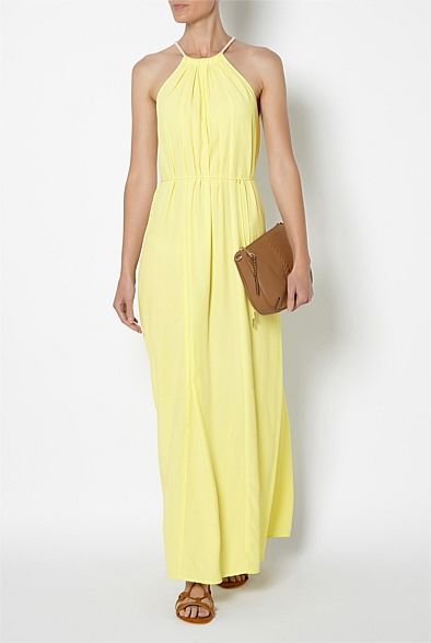 Spliced Paneled Maxi