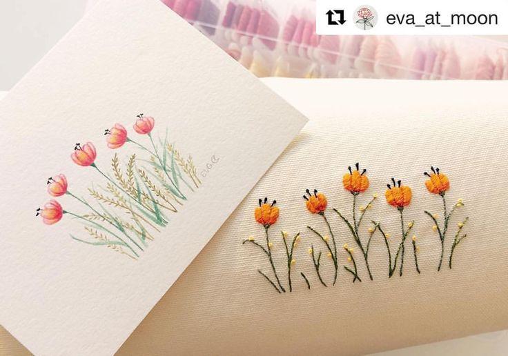 @eva_at_moon #broderie #embroidery #bordado #ricamo #handembroidery #needlework