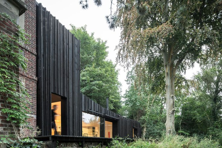 Normandy, France Black Wood House in Normandy Marchi Architectes