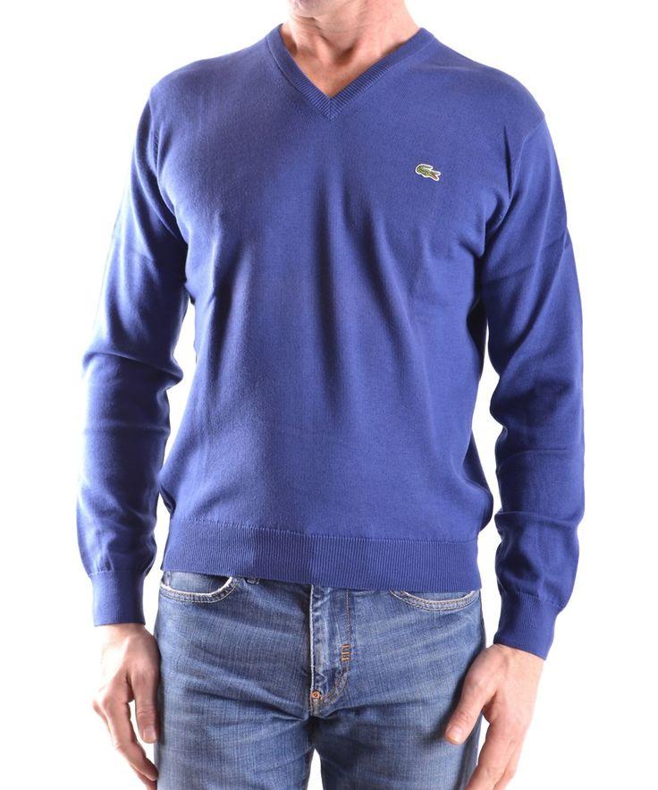 LACOSTE Lacoste Men'S Mcbi341004O Blue Cotton Sweater'. #lacoste #cloth #sweaters