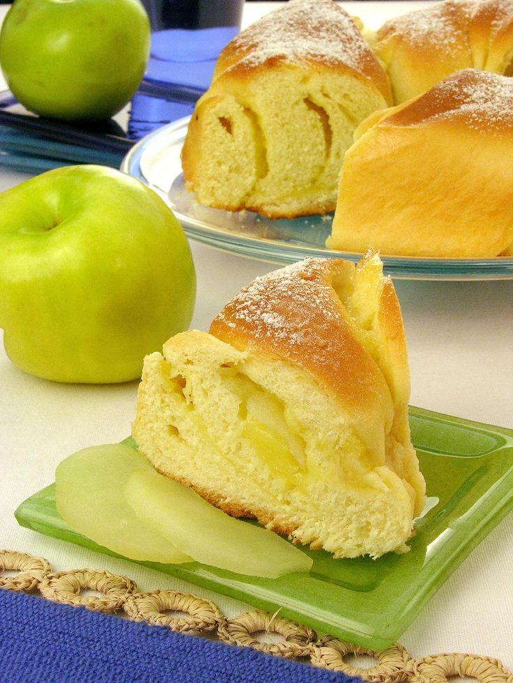 Pão doce de maçã