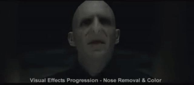 You won't believe how much work went into creating Lord Voldemort's nose