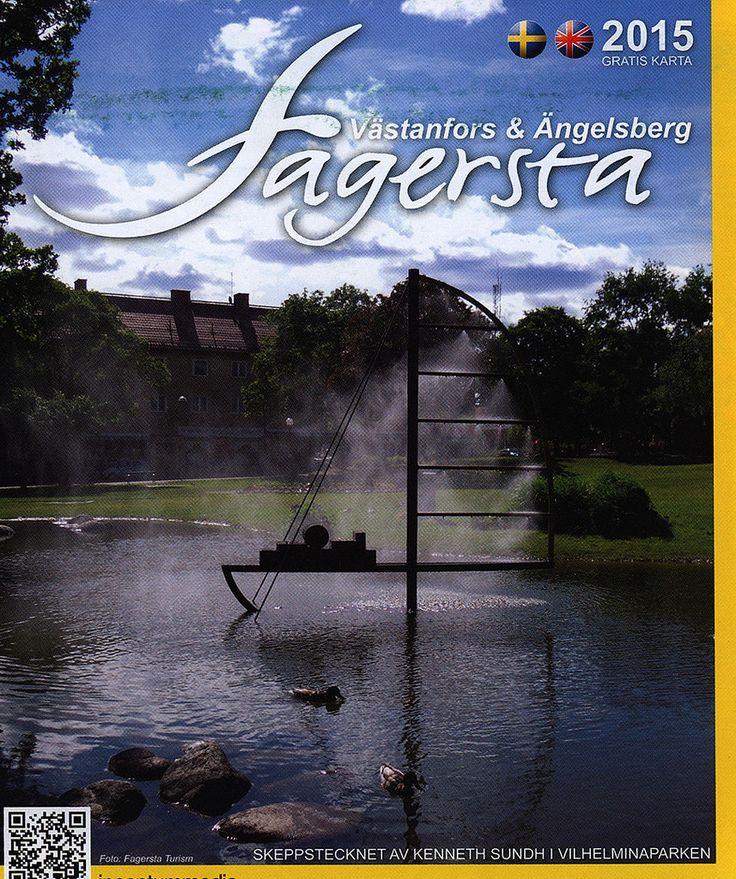 https://flic.kr/p/GudFx1 | Fagersta, Västanfors & Ängelsberg 2015_1 map; Västmanland, Sweden | tourism travel brochure | by worldtravellib World Travel library