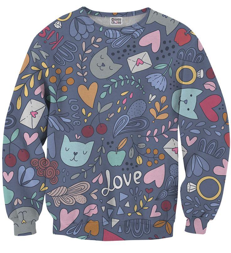Romantic Cats sweater, Mr. GUGU & Miss GO