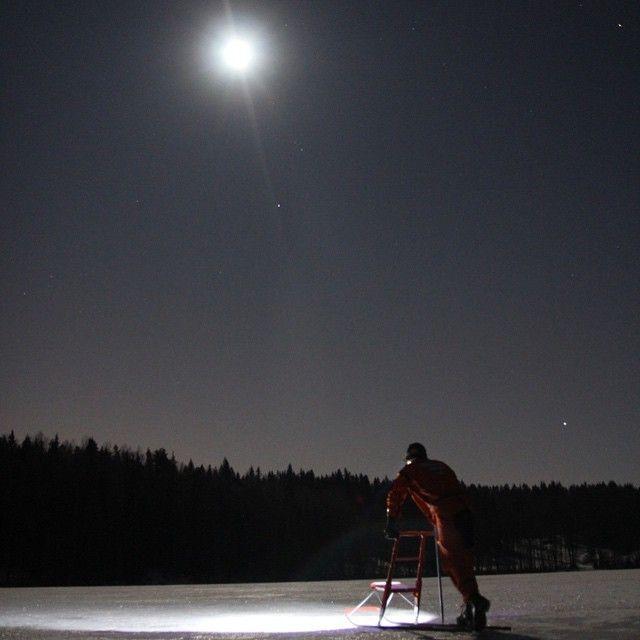 """#Fullmoon #kicksledding on a lake in #Nuuksio National Park #vihti #helsinki #winter #feelhelsinki #visitespoo #walkonthewater #wintertrip #fullmoon #feelthenaturetreks"" Photo taken by @feelthenaturetreks on Instagram, pinned via the InstaPin iOS App! http://www.instapinapp.com (01/06/2015)"