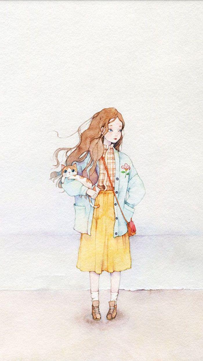 手绘插画♛小淑女