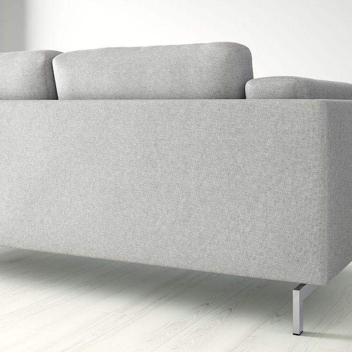 Nockeby 3er Sofa Mit Recamiere Rechts Tallmyra Tallmyra Verchromt Weiss Schwarz Verchromt Ikea Deutschland In 2020 3er Sofa Recamiere 2er Sofa
