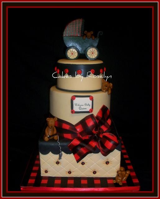 Tartan baby cake?!
