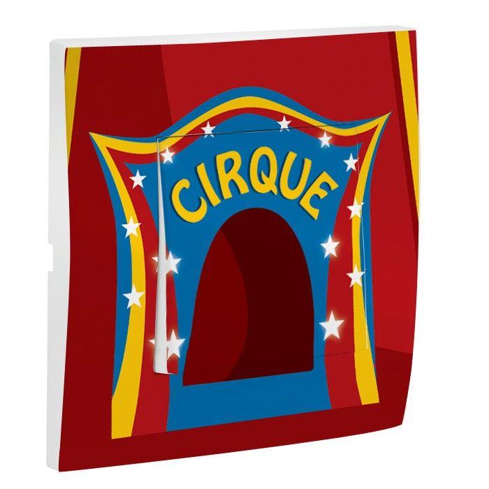 Interrupteur d cor cirque simple for Interrupteur decore