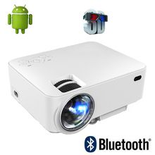2016 New Portable Digital Mini android 4.4 Wifi Bluetooth smart LED LCD Projector HD 1080P Home Theater Beamer with USB SD HDMI