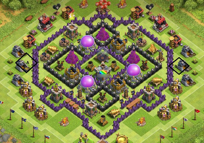 th 8 farming base - Google Search www.clasherlab.com Visit For Website For Laster Clash of clans Content and Updates ! #Clasherlab