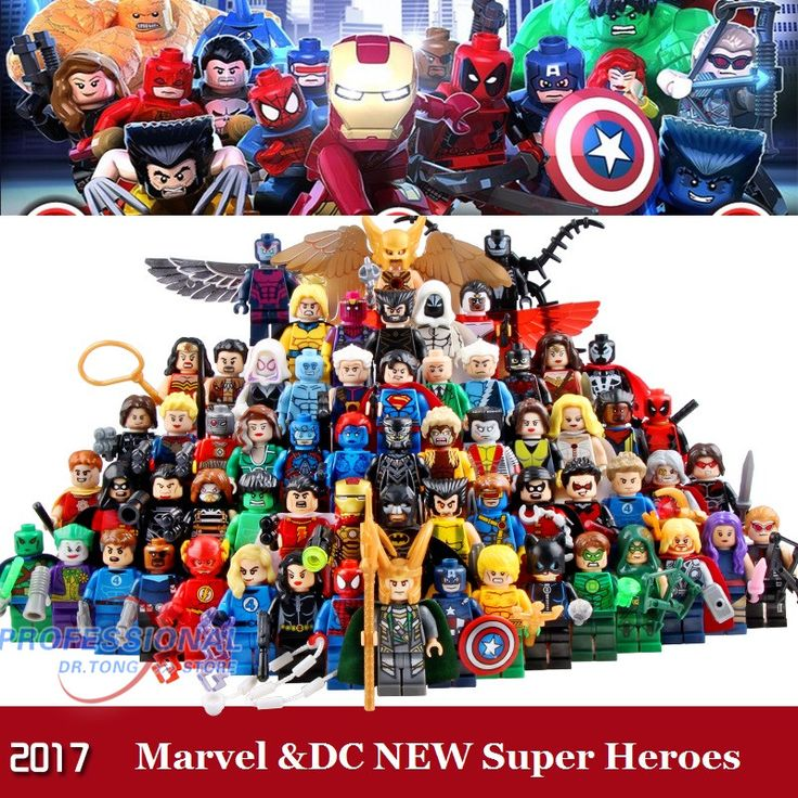 Marvel  DC Super Heroes Action Figures Building Blocks Compatible With Legoes Batman Hulk Deadpool Iron Man