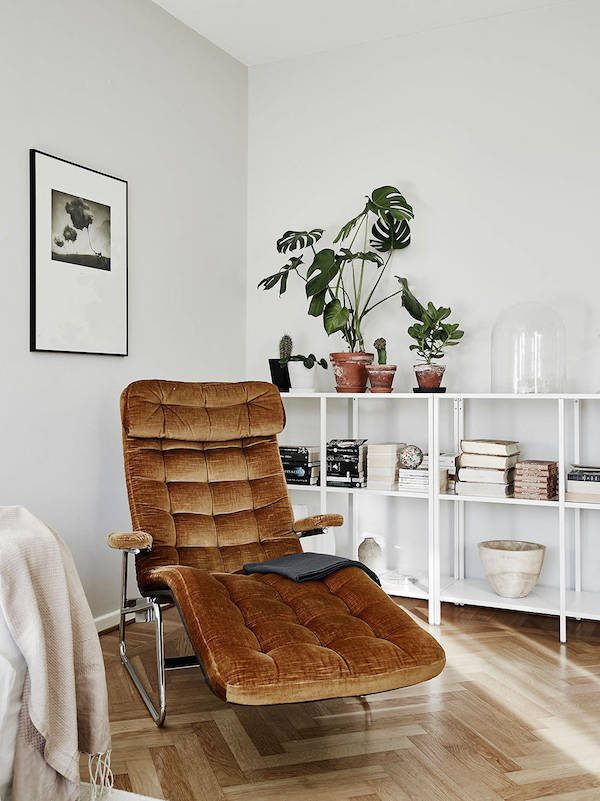 My Scandinavian Home: A Delightful Swedish Home With Dark Wood Features  (shelving)