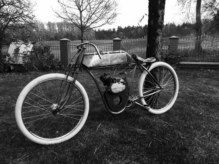 Board Track Racer, Bike with engine, old school, retro bike, vintage