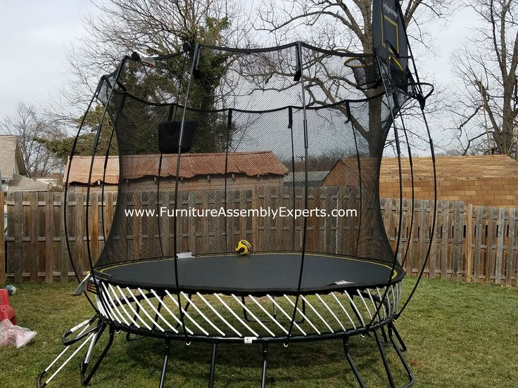 skywalker trampoline assembled for a customer in potomac Maryland by Furniture Assembly Experts company