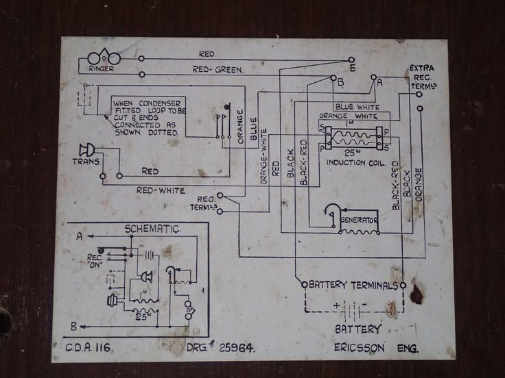 Phone number 2 wiring diagram Red, white, Diagram