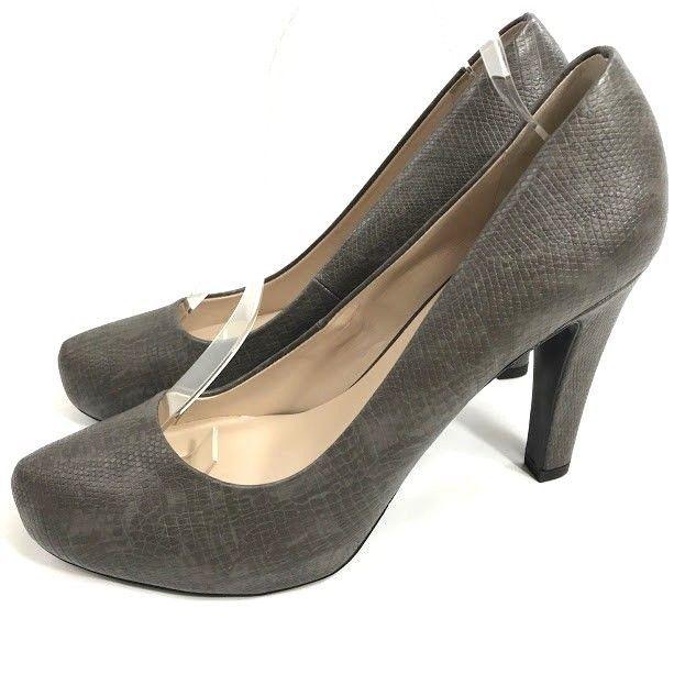 300e8f18ba6 Franco Sartco Cicero Womens Heels Size 10 M Gray Platform Pumps Faux ...