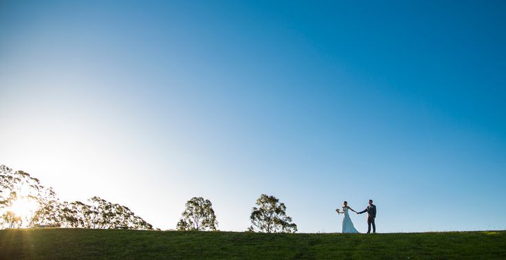 Horizon shot with Bride and Groom Salt Studios| Toowoomba Wedding and Commercial Photography