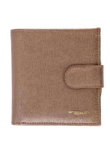 Bronze Saffiano leather multi function mini wallet. 100% Made in Italy from vegetable dyed leather.