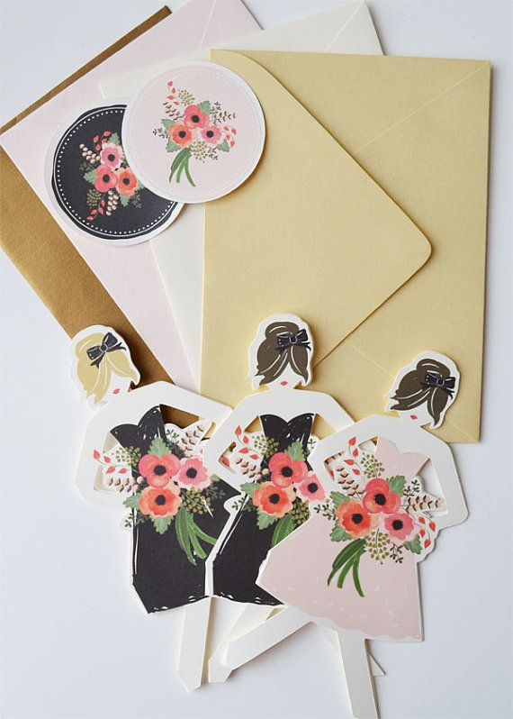 Will you be my Bridesmaid Cards/ Minimum of 3 by firstsnowfall, $26.25