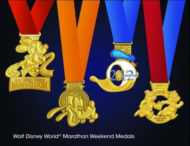 Disney Marathon medals 2012: 2012 Medal, Lists Racing, Buckets Lists, Half Marathons, Disney World, Disney Marathons, Challenges 2012, Goofy Challenges, Disney Medal