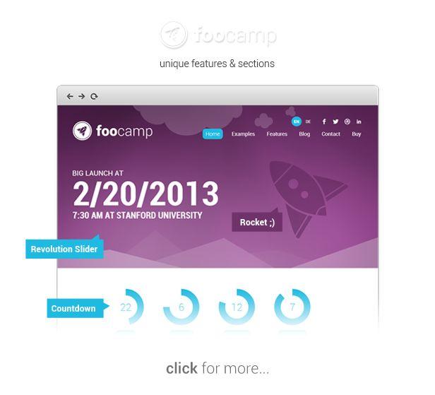 WordPress - FooCamp: Conference Wordpress Theme | ThemeForest
