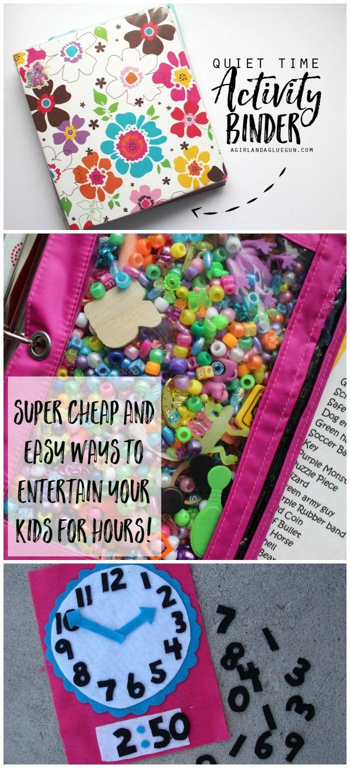 tranquila tiempo de actividad ligante - barato y formas fáciles de mantener a sus hijos entretenidos.
