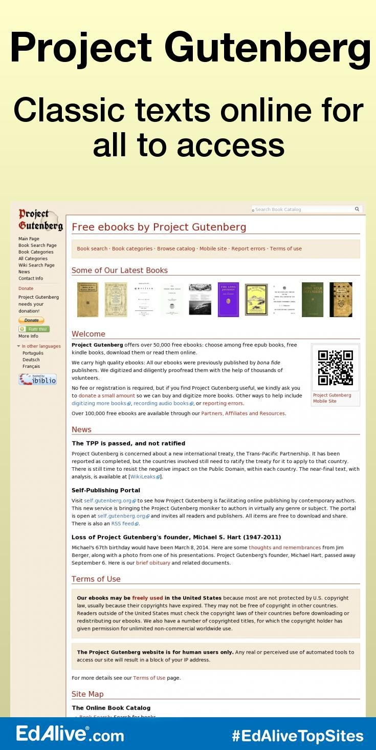 Classic Texts Online For All To Access  Gives Students And Teachers Access  To Thousands Of