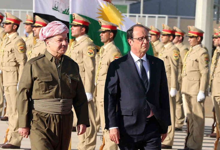 French President François Hollande is coming to Kurdistan today.  It is reported that Hollande will visit Kurdistan after a visit to Baghdad, one of the first visits of 2017, and will hold a meeting with Kurdistan President Mesut Barzani in Erbil.   #Barzani #france #françois hollande #Iraq #Kurdish #kürdistan #Mesut Barzani #Peshmerge