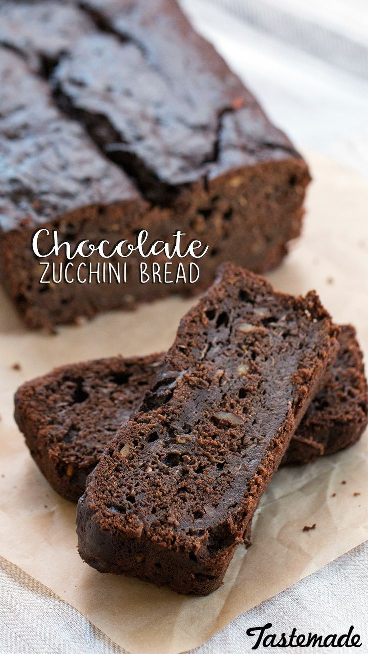 Chocolate and zucchini are the perfect combo for the morning, or as an afternoon delight.